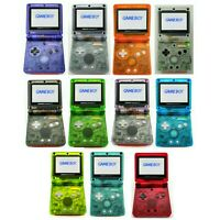 Nintendo Game Boy Advance GBA SP System 101 Brighter Pick Clear Shell & Buttons!