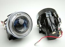 NEW Pair Euro H11 Projector Fog Lights Driving Lamps HID Ready Kit with Brackets