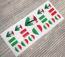 Italian Italy Flag domed sticker decal emblem Ferrari Fiat Lamborghini Alfaromeo