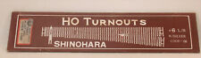 HO SHINOHARA LEFT HAND #6 CODE 100 NICKEL SILVER TURNOUT NEW