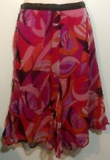 Carbon Orchid Womens Magenta Size 10 Skirt Nwt $99