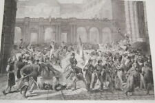 DUC D'ORLEANS AU PALAIS ROYAL REVOLUTION DE 1830 GRAVURE 1838 VERSAILLES R1585