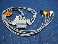 Hp Agilent Philips 5 Lead Ekg Ecg Lead Wires With Snap Type Lead Wires Pn M1645a