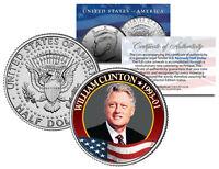 WILLIAM Bill CLINTON President * 1993-2001 * JFK Half Dollar Colorized U.S. Coin