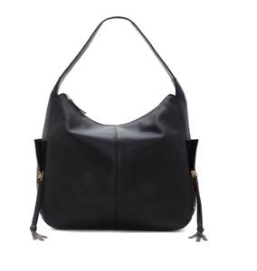 NWT Vince Camuto Leather Handbag Cory Hobo Black MSRP $268