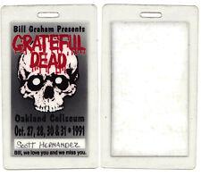 Grateful Dead Backstage Pass Laminate #2 Oakland Coliseum Oct 27-28, 30-31, 1991