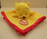 """18"""" x 18""""  Disney's Winnie the Pooh """"Hunny"""" Security Baby Blanket RETIRED"""