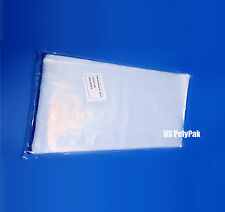 """2000 8x20"""" Clear Poly Bags 1-Mil Lay Flat Open Top End Long Plastic Packaging"""