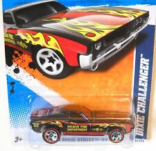 2011 Hot Wheels #165 HW MAIN STREET * DIXIE CHALLENGER * RED LINES DELRAN FIRE