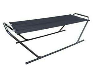 Malibu Metal Hammock Steel Frame - Black