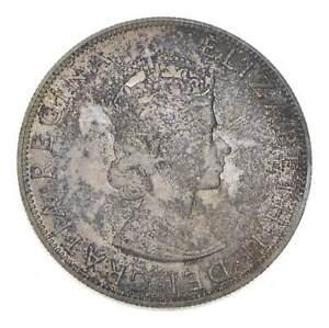 Choice BU Unc 1964 Bermuda 1 Crown Silver Coin - Mint State *776