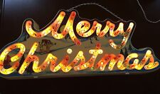 Vintage Holiday-Glow Lighted Merry Christmas Sign. 144 Lights