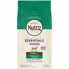 Dry Dog Food Small Bites Adult Pasture-Fed Lamb & Rice Recipe, 5 Lb. Bag, Nutro