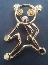 Teddy Bear Pig Kitten Cat Pin - Animal Lover Pin Brooch Gold - Jewelry - NEW