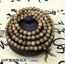 8mm Tibet Buddhism 108 Wenge Wood Prayer Beads Mala Necklace