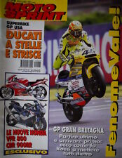 Motosprint 28 2001 GP USA: Ducati a stelle e strisce. Nuove Honda VFR 800, CBR
