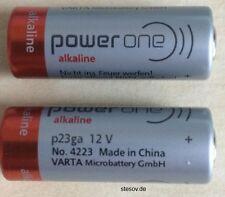 2 Alkaline Batterie Power One VARTA 23A 12V Volt p23ga 8LR932 Mn21 V23GA A23 Ø10