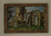 Billockby Church Norfolk Scene of a Church Oil on Board Signed Sydney Sykes 1992