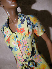 CHIC VINTAGE ROBE POP 1970 VTG DRESS 70s KLEID 70er ABITO ANNI 70 RETRO (36)