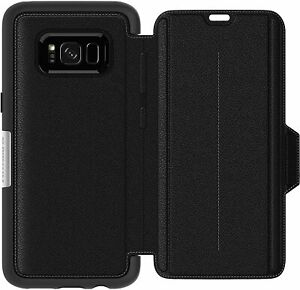 OTTERBOX Strada Folio Case Leather Real Anti-shock End For Galaxy S8+ New