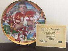 Sports Impressions - Joe Montana - Gold Edition - Collectors Plate