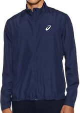 Asics Silver Mens Running Jacket - Navy