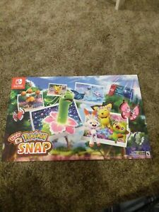 Nintendo Switch New Pokemon Snap Poster gamestop exclusive new glossy