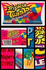 RARE! Vintage 1992 Amurol TROPICAL TWISTS Bubble Gum Pouch candy container