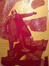 1970 LENIN SPECIAL PAINT ON THE WOOD BOARD COMMUNISM CCCP SOVIET