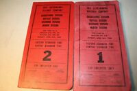 Vintage Erie Lackawanna Railway Co. Time Tables Employees Only 1 & 2 lot 64-69