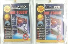 Ultra Pro UV One Touch 100 Point Magnetic Rigid Card Holders x 2-Soccer cards