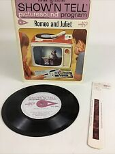 General Electric Show 'N Tell Romeo & Juliet Record Showslide Film Vintage 1965