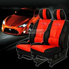Sports Bucket Seat Cushion Cover Leather Red 2P For HYUNDAI 09-16 Genesis Coupe