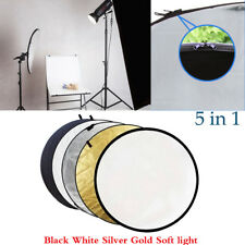 60CM 5-in-1 Photograph Disc Collapsible Light Reflector Studio Multi Photo 24""