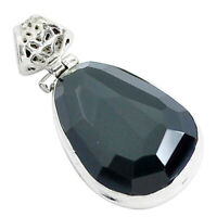 Faceted Natural Rainbow Obsidian Eye 925 Sterling Silver Pendant Jewelry P47186