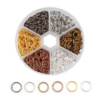 1 Box 6-Colour Iron Open Jump Rings Round Unsodered Loop Mini Links 4mm 6mm 8mm