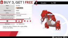 ✨ Groudon ✨ Legendary Pokemon Sword and Shield 6IV Pokémon 🚀Fast Delivery🚀