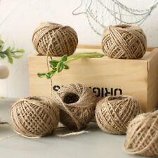 30M Natural Burlap Hessian Jute Twine Cord Hemp Rope String Packing Gift Craft