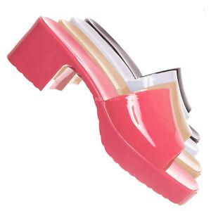 Spice01 Jelly Block Heel Clog, Women's Rubber Slide Sandal