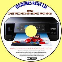 EPSON XP225 XP322 XP325 XP323 XP422 XP423 XP425 WASTE INK PAD COUNTER RESET DISC