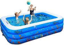 """New listing New Inflatable Swimming Pool, Funavo 100"""" X 71"""" X 22"""" Full-Sized Family"""