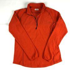 Magellan Outdoors Mens Fleece Jacket 2XL Orange 1/4 Zip Pullover Lightweight