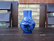 Moorcroft Pottery blue cornflower on powder blue design vase #3