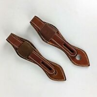 Handmade Set 2 Leather Strap Horse Tack Slobber Straps Rein Pequet Re-Enactment
