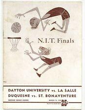 1952 NIT Basketball Finals Championship Game Program GOOD Condition