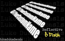 """5 Pack ReflectiveYOUR USER NAME 10"""" Insta This JDM  race Vinyl Decal Sticker"""