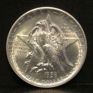 1936 Texas Independence Centennial Silver Half Dollar CHOICE BU