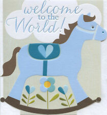 New Baby Boy Card - Dixie - Made in UK - Welcome to the World