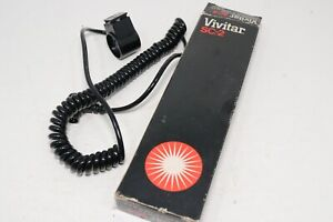 Vivitar SC-2 Remote Sensor Cord for 283 Flash Sync New Old Stock In Box 2m Cord
