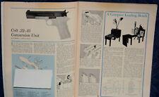 """ORIGINAL Article """"COLT M1911 .22-.45 Conversion Unit"""" 2-p Magazine 1963"""
